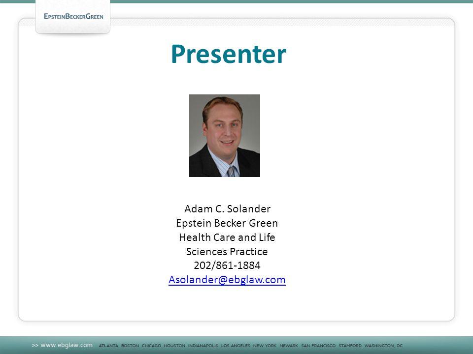 Presenter Adam C.