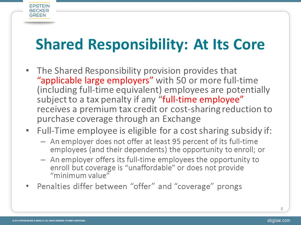 Shared responsibility provisions contemplate workforce management Workforce management to avoid employer mandate is a strategy to avoid taxes, not the provision of benefits Inter-Modal Railway Employees Ass'n: fundamental business decisions dicta Litigation strategy: administrative exhaustion, etc.