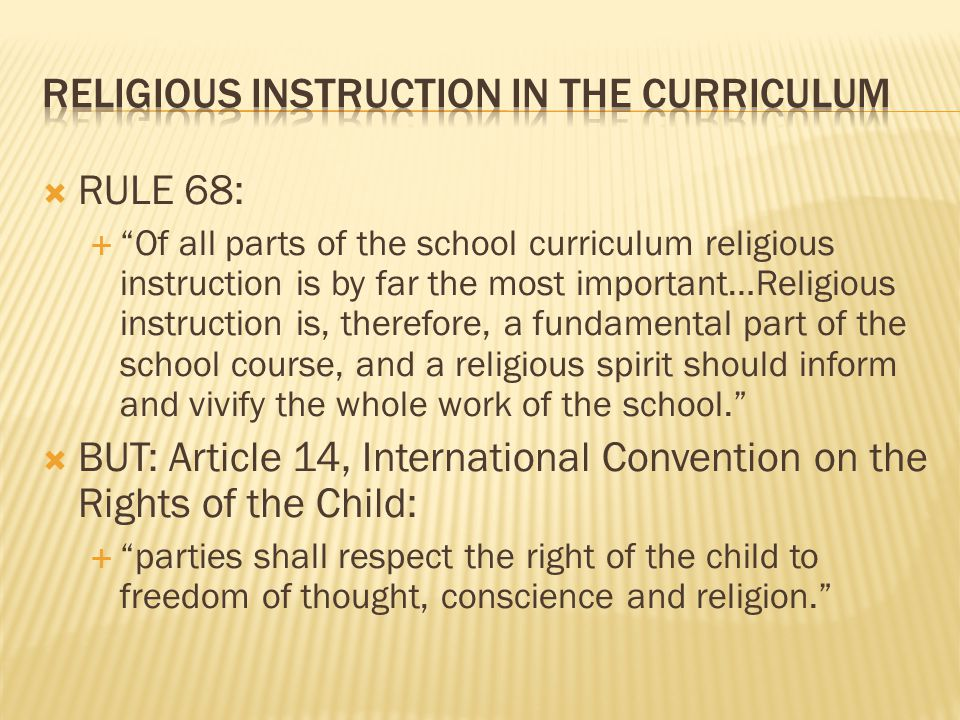 Thus, under existing equality law, schools may discriminate in respect of pupils:  Equal Status Act 2000, section 7(3) – not discrimination:  (c) where the establishment is a school providing primary or post-primary education to students and the objective of the school is to provide education in an environment which promotes certain religious values, it admits persons of a particular religious denomination in preference to others or it refuses to admit as a student a person who is not of that denomination and, in the case of a refusal, it is proved that the refusal is essential to maintain the ethos of the school…