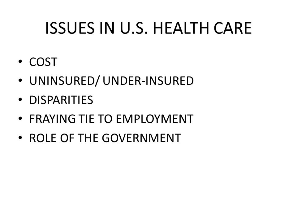 ISSUES IN U.S.