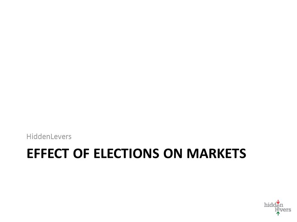 EFFECT OF ELECTIONS ON MARKETS HiddenLevers