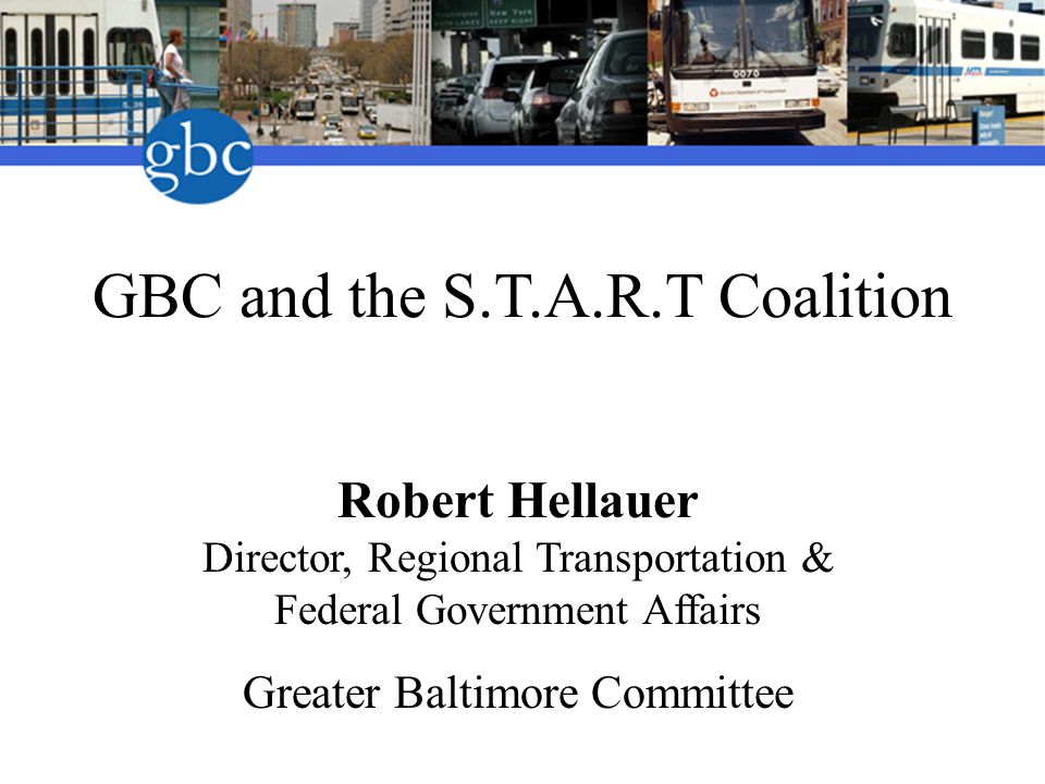 State of Maryland's leading business organization Comprised of over 500 businesses 56 year old private sector membership organization Works in collaboration with government Advocates for changes to strengthen the business community and improve quality of life in the region Greater Baltimore Committee