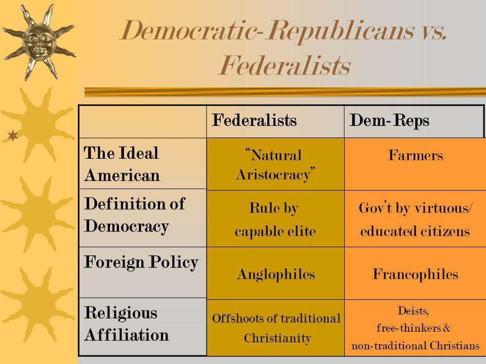 Democratic-Republicans vs.