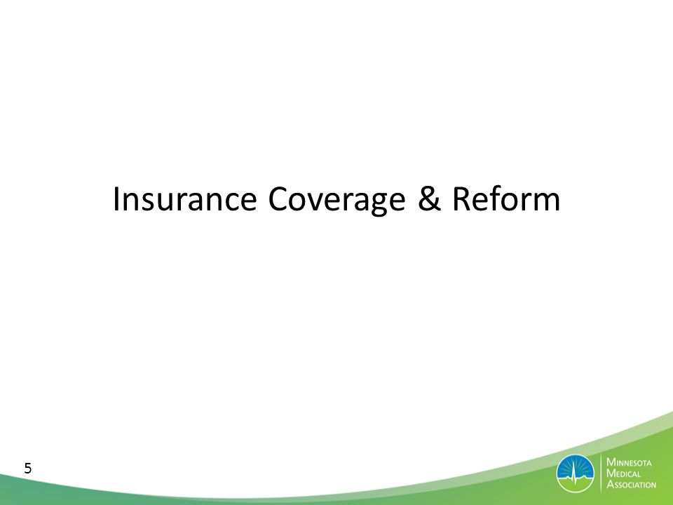 Insurance Reform Context 9% uninsured History of solid regulatory structure Decent environment for health care stakeholders Strong non-profit tradition (state-based companies) 17% uninsured Variable regulations across states Variable, but some very contentious environments Variable, many for-profit, national plans 6