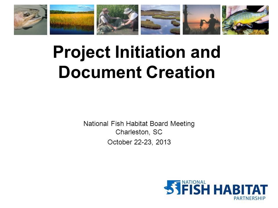 Project Initiation and Document Creation National Fish Habitat Board Meeting Charleston, SC October 22-23, 2013