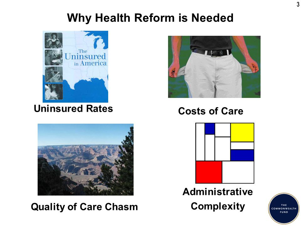 4 Signs and Symptoms of a Sick Health Care System High Costs Poor Population Outcomes Suboptimal and Variable Quality