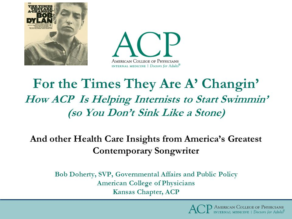 The ACA (Obamacare) and the Future of American Medicine  What can you expect over the next six to twelve months.