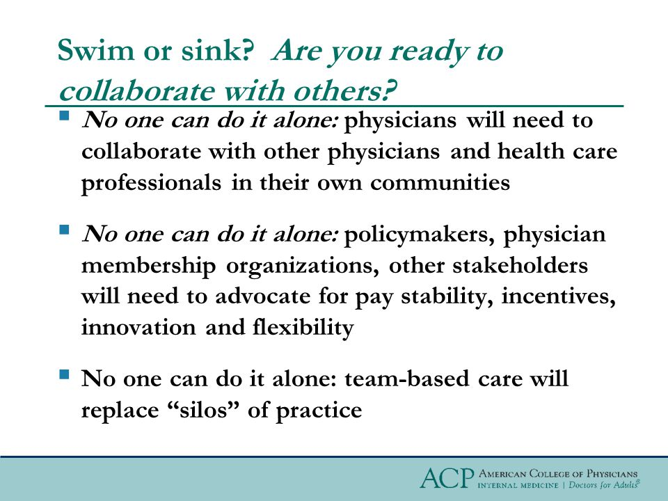 Team-based Care and Professionalism Professionalism requires that all clinicians—physicians, advanced practice registered nurses, other registered nurses, physician assistants, clinical pharmacists, and other health care professionals—consistently act in the best interests of patients, whether providing care directly or as part of a multidisciplinary team.