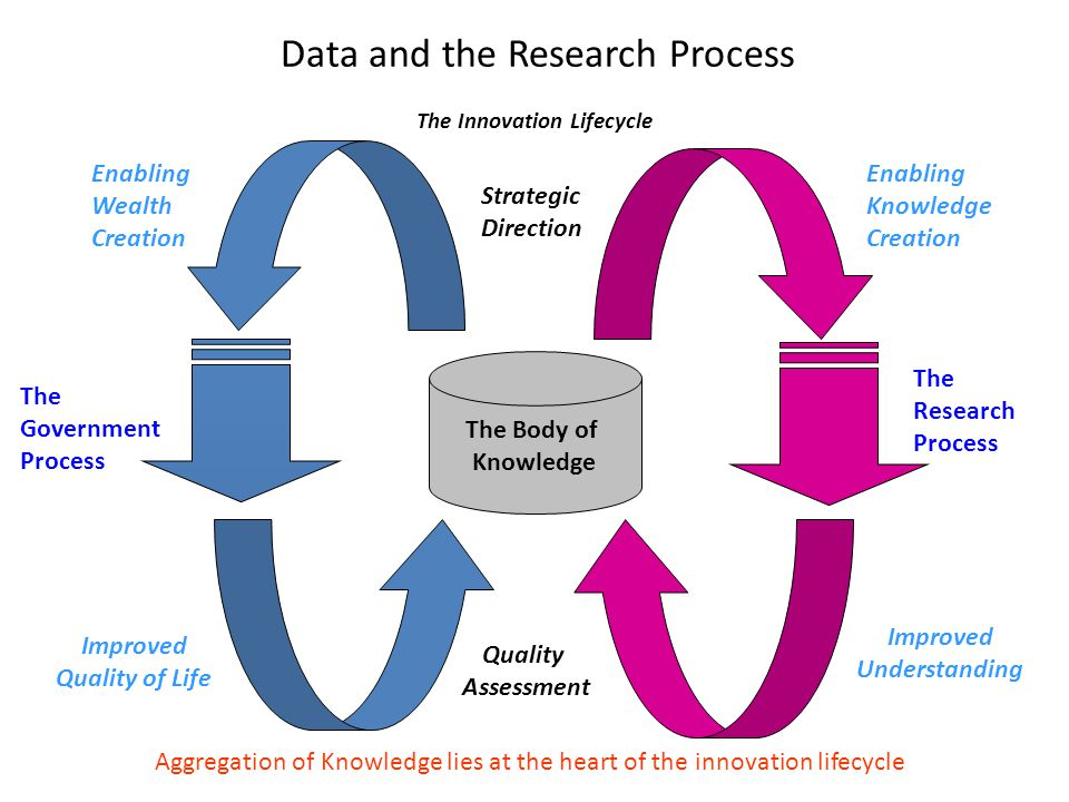 The Innovation Lifecycle The Body of Knowledge The Government Process The Research Process Aggregation of Knowledge lies at the heart of the innovatio