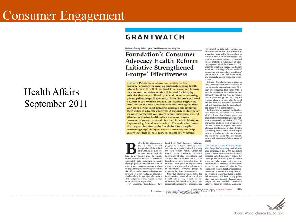 Consumer Engagement Health Affairs September 2011