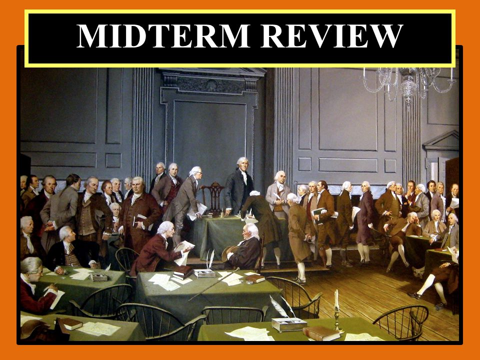 Government Terms # 2 ========================================================= ___6)AmendmentF)A guide for later action, an example to follow.