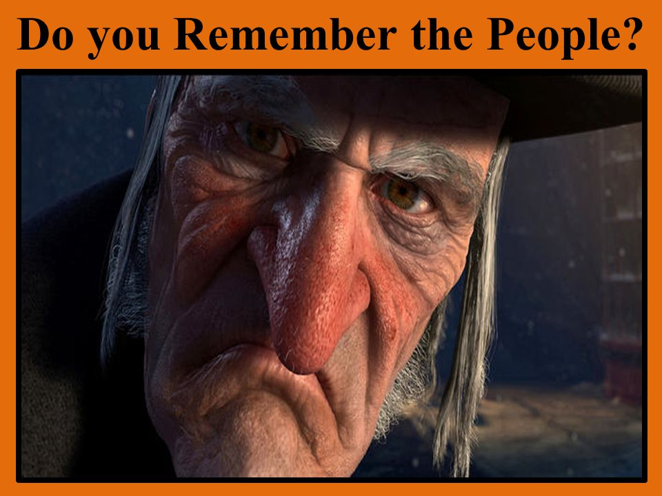 Do you Remember the People