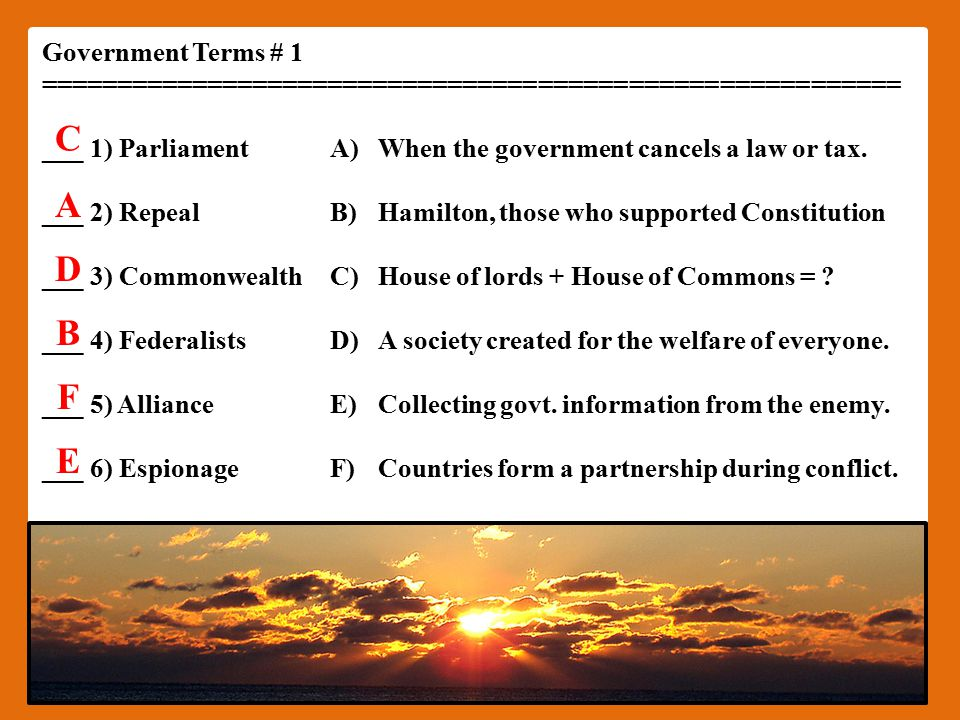 Government Types...