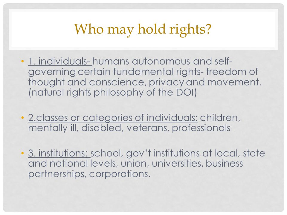 Who may hold rights.1.