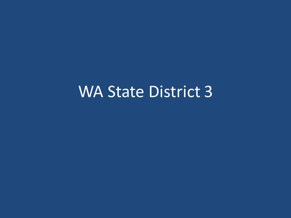 WA State District 3