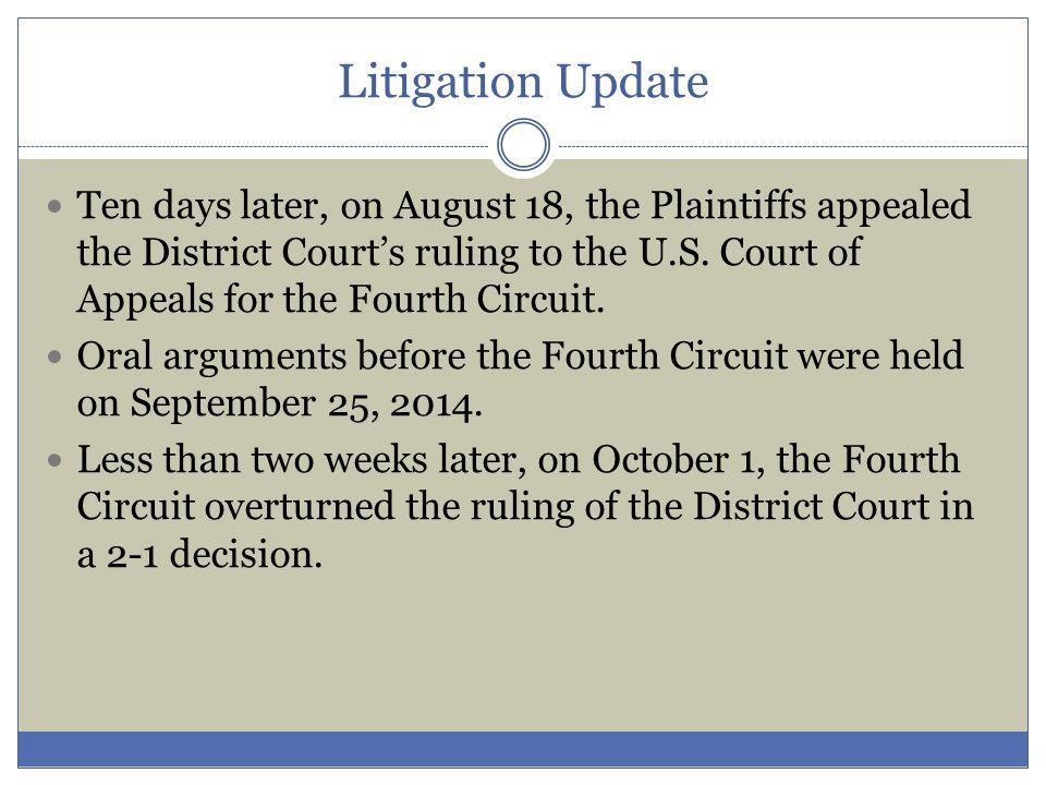 Litigation Update Thank you.Brian P.