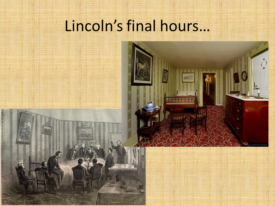 Lincoln's final hours…
