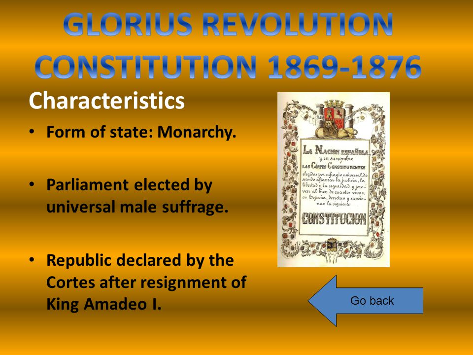 Characteristics Form of state: Monarchy. Parliament elected by universal male suffrage.
