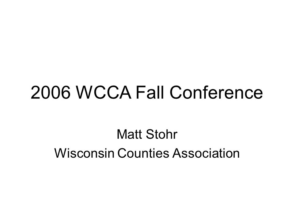 Outline What is WCA.