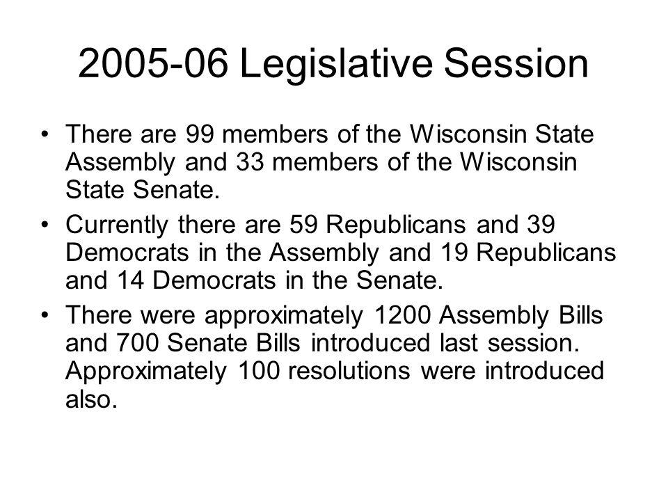 2007-08 Legislative Session Legislative proposals will be introduced beginning in January 2007.