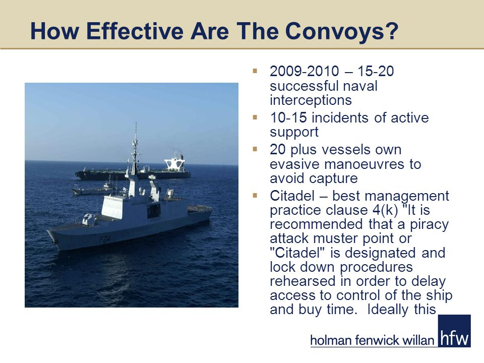 How Effective Are The Convoys.