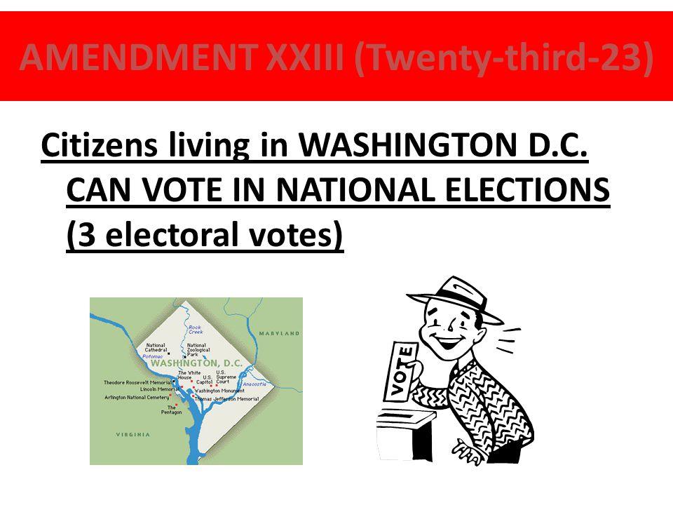 AMENDMENT XX (Twentieth – 20) LAME DUCKS President takes office on January 20th instead of March 4th