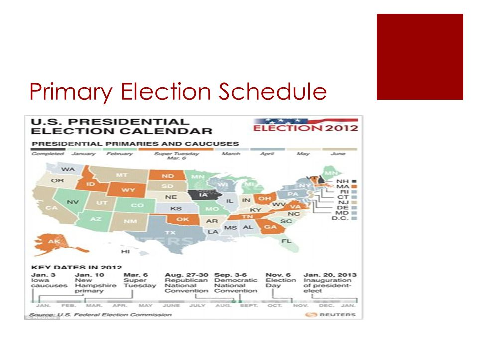 Primary Election Schedule