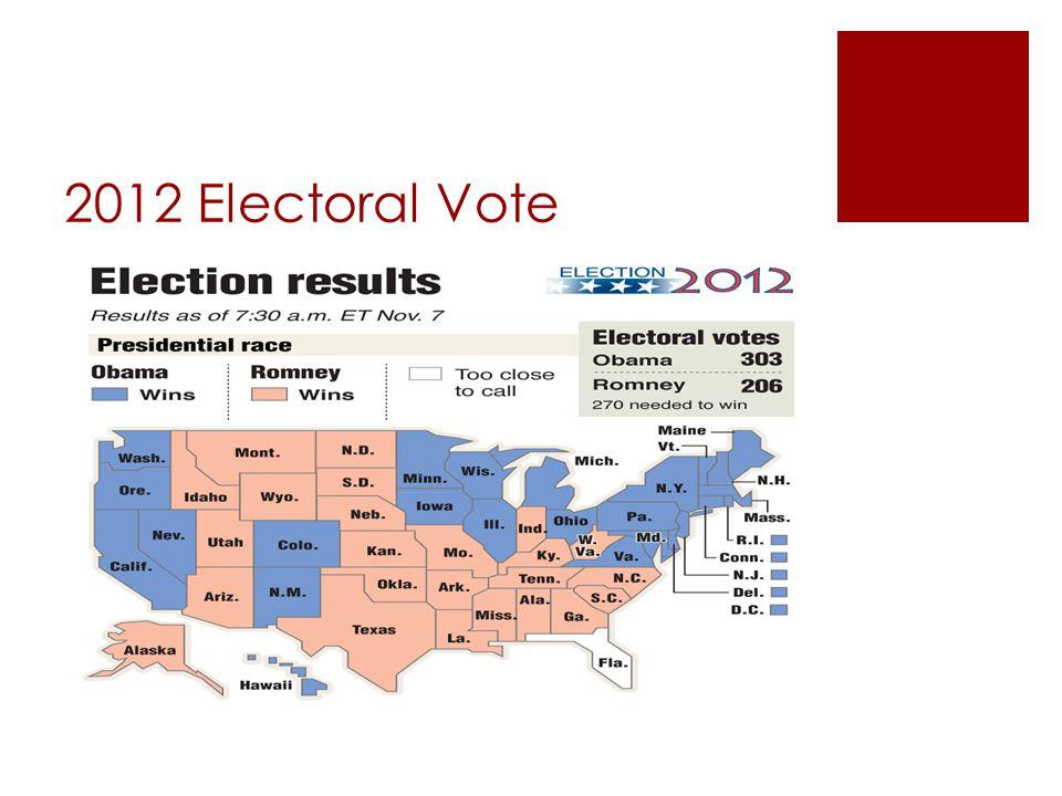 2012 Electoral Vote