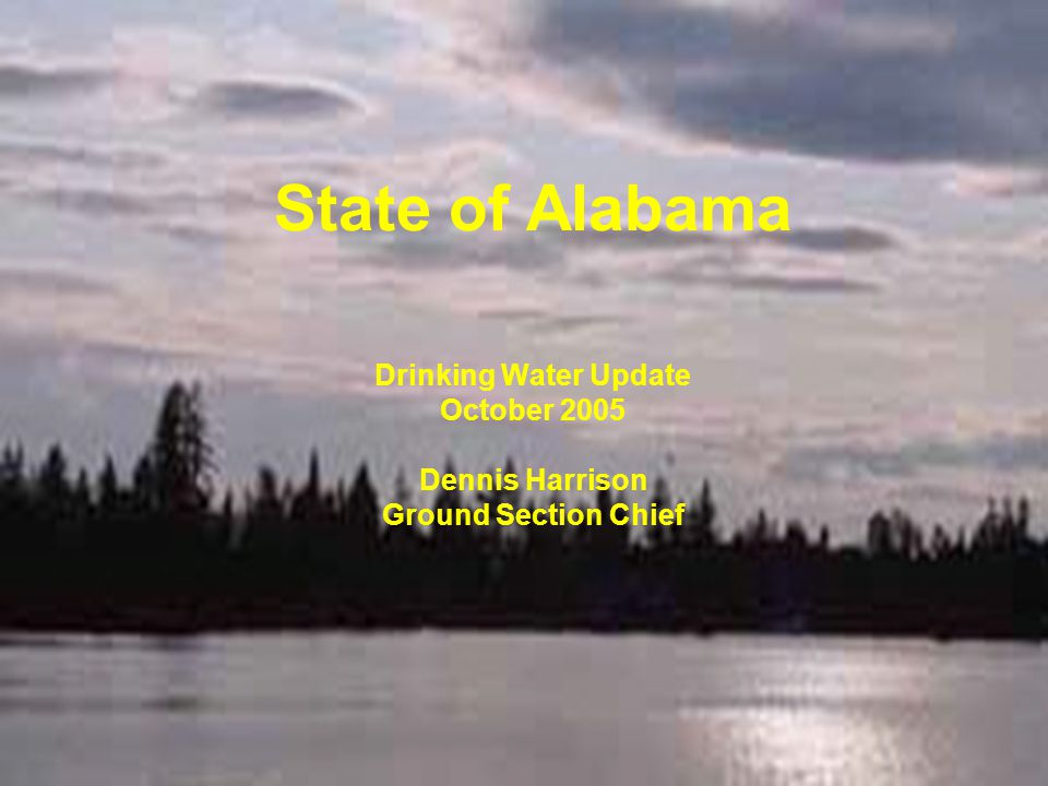 State of Alabama Drinking Water Update October 2005 Dennis Harrison Ground Section Chief