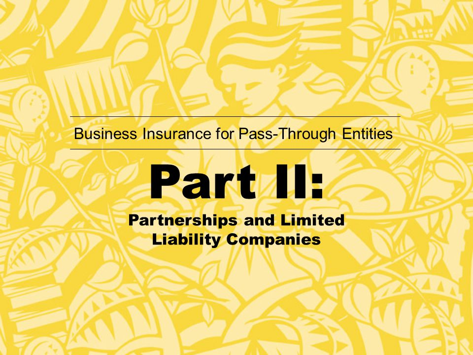 Highlights: Meeting At A Glance Discussion of partnership tax rules and their impact on the payment of corporate owned life insurance premium and death proceeds.