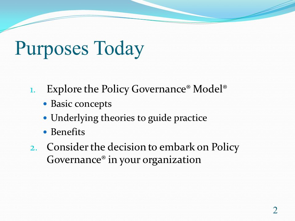 Getting started with policy governance: bringing purpose, integrity, and efficiency to your board, foreword by John Carver.