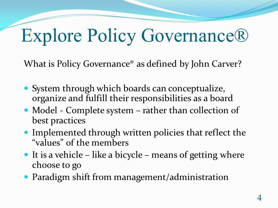 Governance vs.