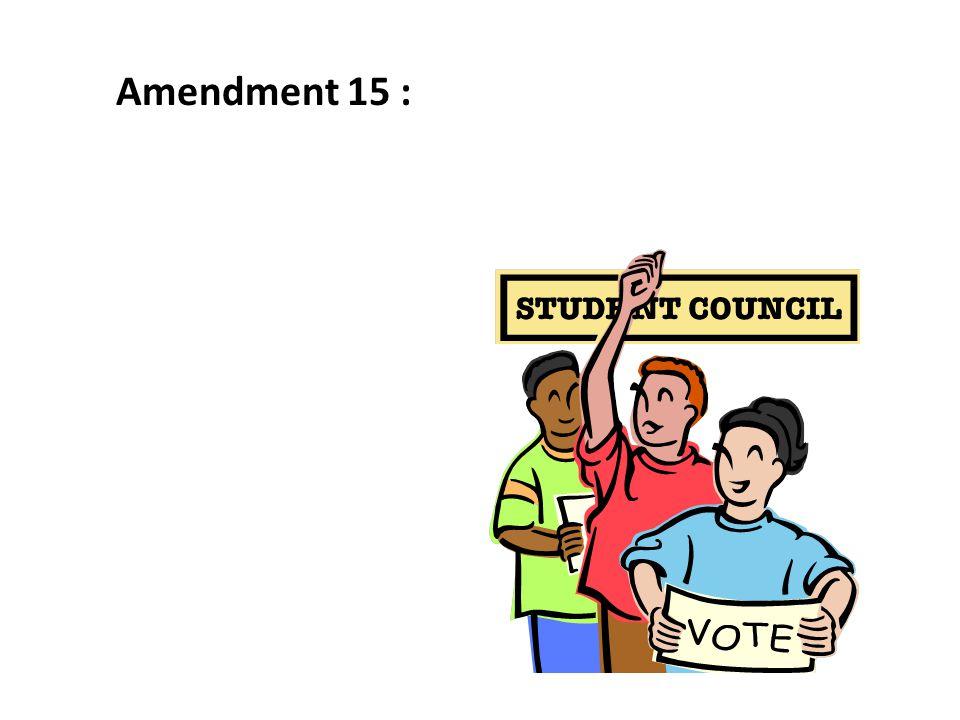 Amendment 15 :