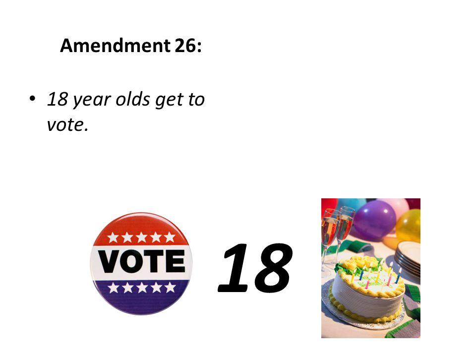 Amendment 23: