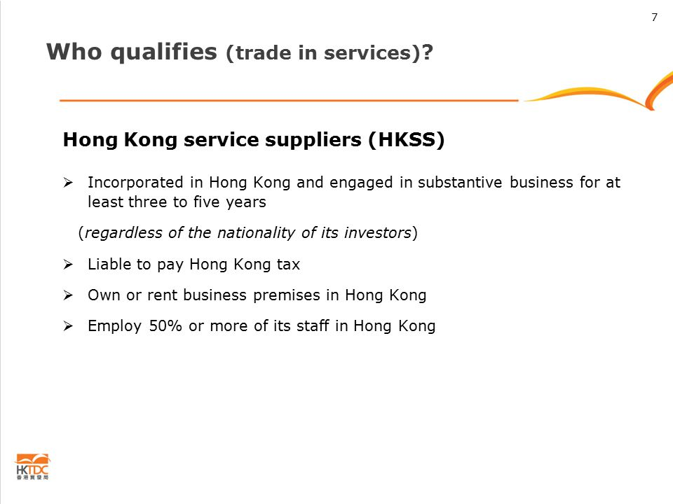 Who qualifies (trade in services) .
