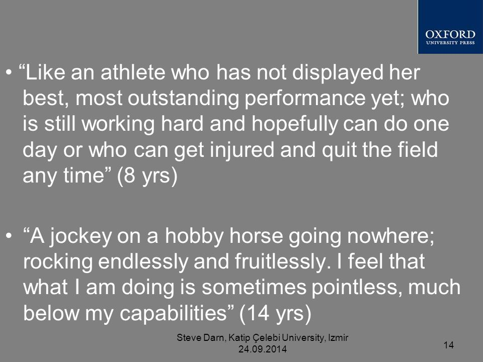 A jockey on a hobby horse going nowhere; rocking endlessly and fruitlessly.