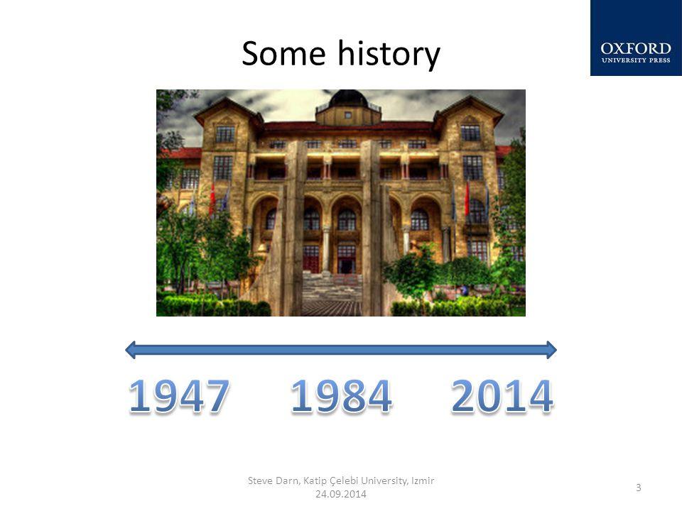 Some history Steve Darn, Katip Çelebi University, Izmir 24.09.2014 3