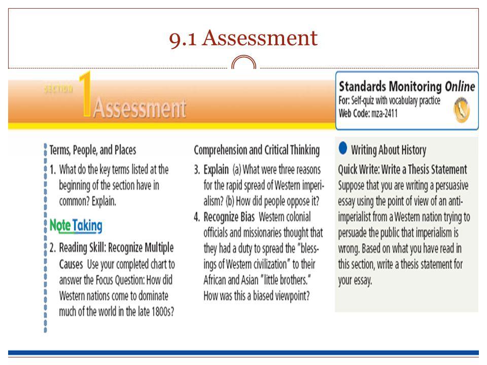 9.1 Assessment