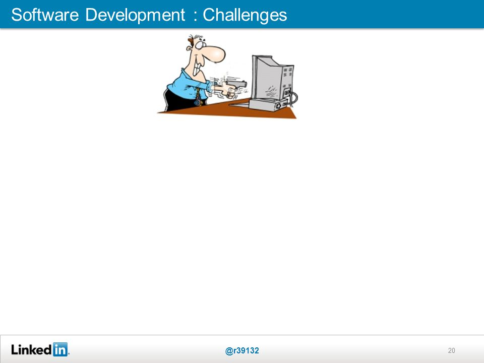 20 Software Development : Challenges @r39132