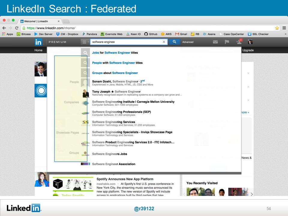 54 LinkedIn Search : Federated @r39132