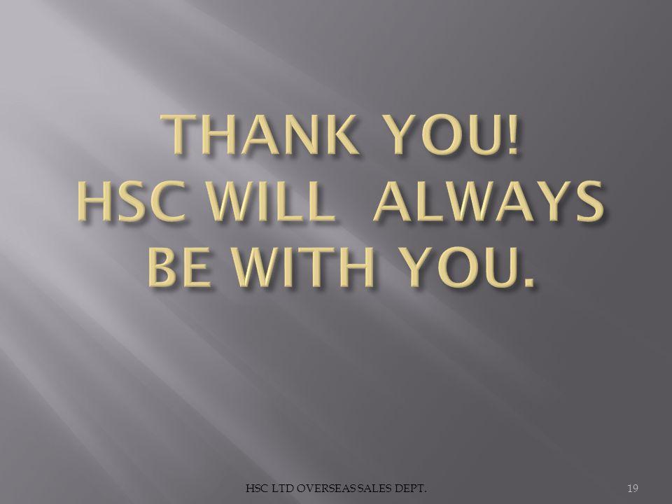 HSC LTD OVERSEAS SALES DEPT.19