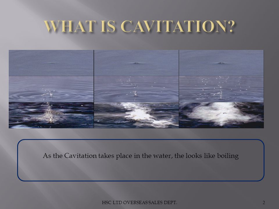2 As the Cavitation takes place in the water, the looks like boiling