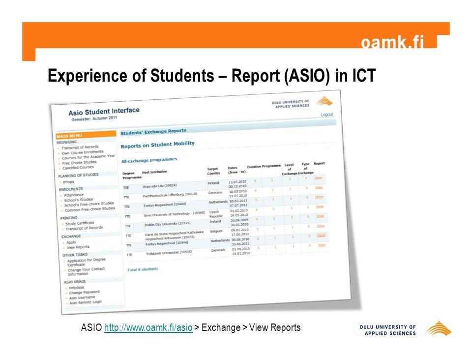 Working for a Good Student Exchange Experience http://www.oamk.fi/~bafahnri/info/coagime.pdf