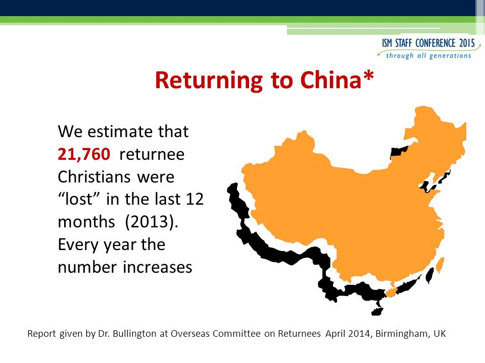 We estimate that 21,760 returnee Christians were lost in the last 12 months (2013).