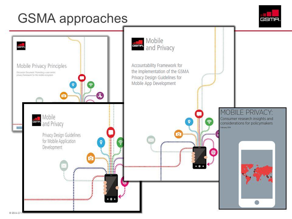 © GSMA 2013 GSMA approaches