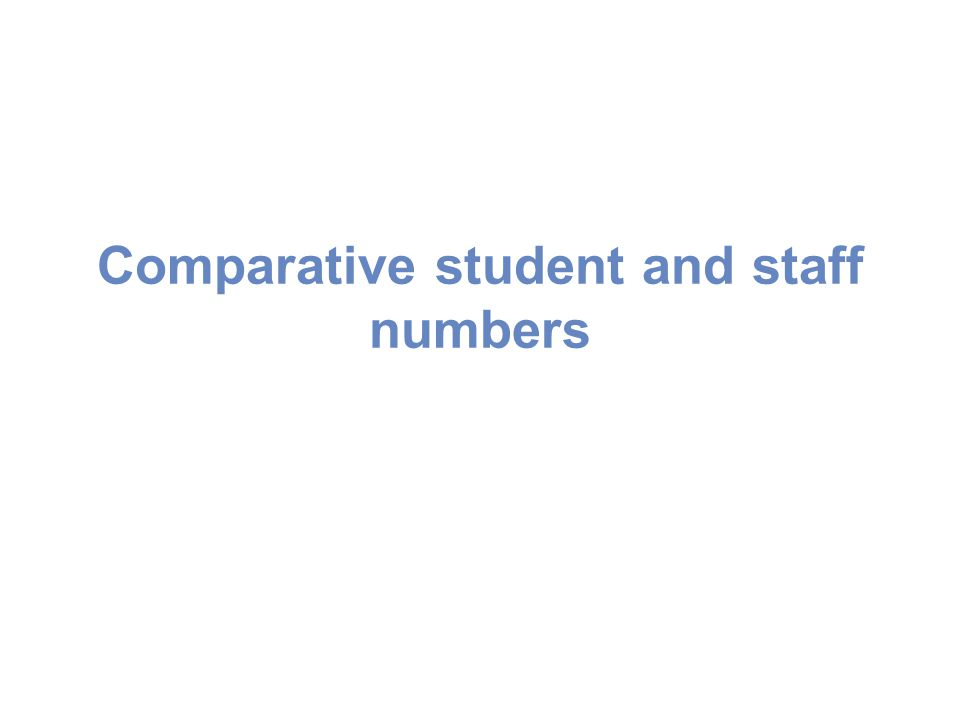 Comparative student and staff numbers