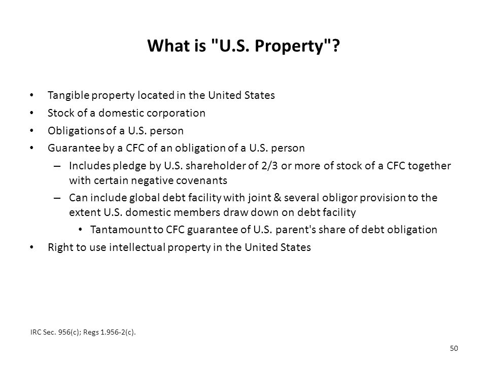 What is U.S.Property .