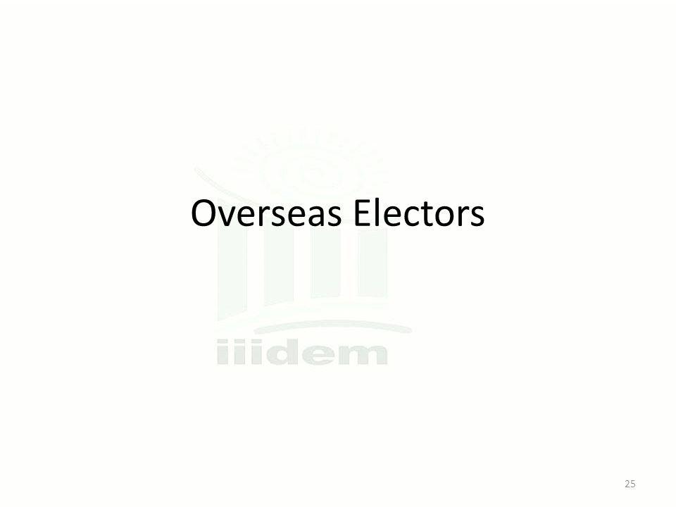 Overseas Electors 25