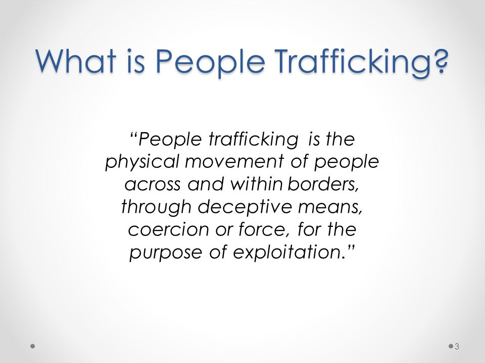 What is People Trafficking.