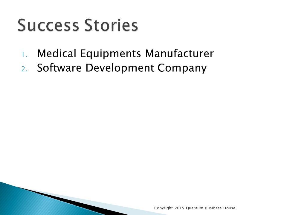 1. Medical Equipments Manufacturer 2. Software Development Company Copyright 2015 Quantum Business House